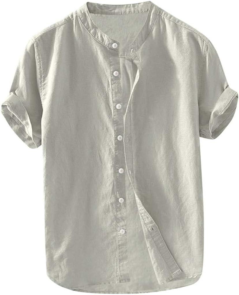 WYTong Casual Button mart Tops Fashion Sleeve T-shirt So Short Fashion