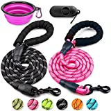 5 FT REFLECTIVE DOG LEASH - Our dog leash is a perfect choice to bring balance between freedom and control for your pet during daily walks. It fits many occasions- walking, running, or training.Your dog will stay safely within your safe and gentle co...