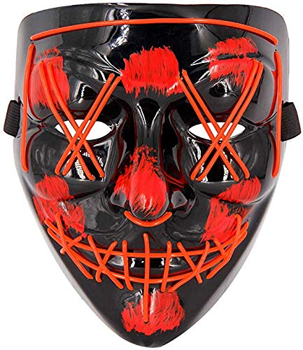 Boolavard Halloween Scary Mask Cosplay Led Costume Mask Wire Light up para la Fiesta del Festival de Halloween