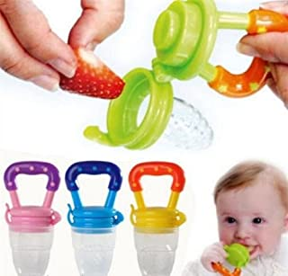 Q4U Baby Dummy Pacifier Fresh Food/Fruit Feeder Feeding Nipple Weaning Teething Nipple Teat Pacifier Teether Soother (Larg...