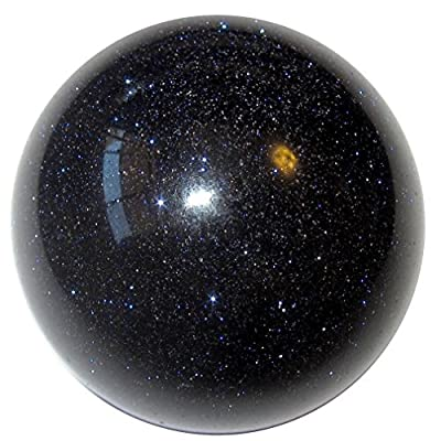 Satin Crystals Blue Goldstone Sphere Crystal Healing Ball Starry Night Meaning of Life Magic Premium P02 (1.5 inch)