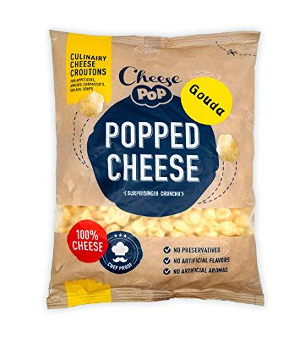 Cheesepop Popped Cheese Snack (Gouda, 1x Beutel 500g) - 100{358b5f3ff9a15614b2a0e3f8b6030974c2eee9970876295517e406fb3fe2d199} Käse ...überraschend knusprig! clean label - natürliches Produkt - vegetarisch - keine Kohlenhydrate - Keto - proteinreich - glutenfrei