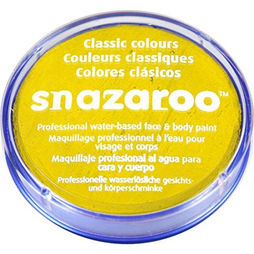 Novelties Direct Snazaroo Face and Body Paint, Bright Yellow, Water Based 18 ML (Maquillage/Peinture Visage)