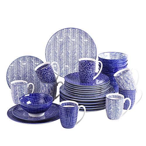 vancasso Takaki, Juegos de Vajilla Servicio de Platos de Porcelana 32 Piezas...