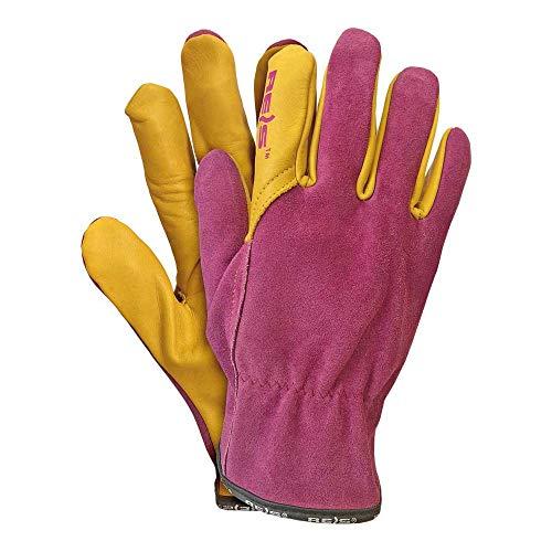 Rijst LAMPART7 Topgekon beschermende handschoenen, roze-geel, 7 maten, 12 stuks