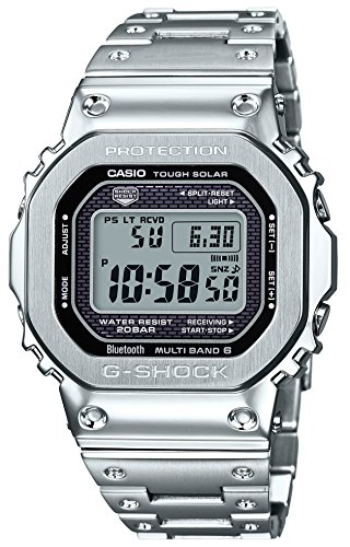 Casio Watch G-Shock GMW-B5000D-1JF, Equipped with Bluetooth, Atomic Solar, Men's