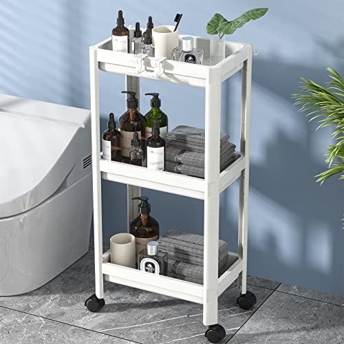 Flowmist 3 Tier Slim Rolling Organizer Storage Cart...