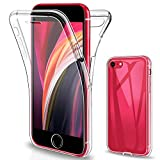 Gnews Funda para iPhone SE 2020, Funda para iPhone 7 iPhone 8, Transparente Silicona 360° Protectora Carcasa para iPhone SE 2020/ iPhone 7/ iPhone 8