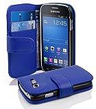 Cadorabo Coque pour Samsung Galaxy Trend Lite Bleu CÉLESTE Housse de Protection Etui Portefeuille Cover pour Trend Lite...
