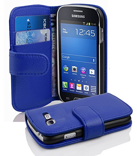 Cadorabo Coque pour Samsung Galaxy Trend Lite Bleu CÉLESTE Housse de Protection Etui Portefeuille Cover pour Trend Lite – Stand Horizontal et Fente pour Carte