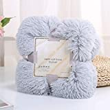 <span class='highlight'><span class='highlight'>FlowersSea</span></span> Long Shaggy Soft Throw Blanket Warm Elegant Cozy Faux Fur Blanket for Bed Chair or Sofa (Classic Grey, 160 * 200cm)