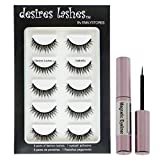DESIRES LASHES By EMILYSTORES Magnetic Eyelashes Natural Magnet Faux-Lashes Multipack Kit 5Pairs, Isabella