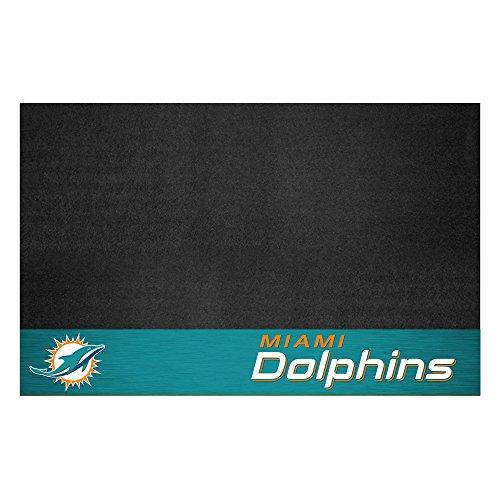 Fanmats 12190 NFL Miami Dolphins Vinyl Grill Mat