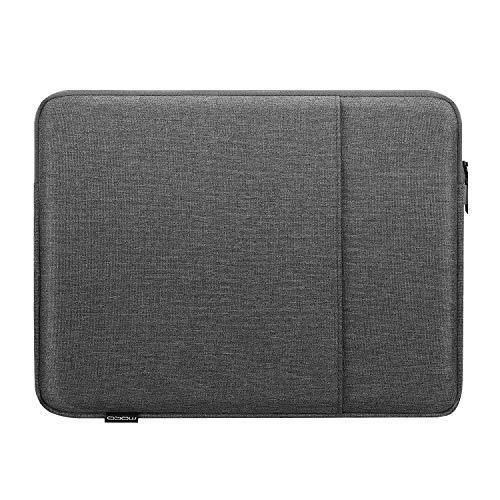 MoKo Funda Protectora Compatible con iPad 9ª/8ª/7ª Gen 10.2/9.7', iPad Pro 11' 2021/2020/2018, iPad Air 4ª 10.9/3 10.5' 2019, Surface Go 2 10.5, Bolsa de Poliéster con Cremallera Doble, Gris Oscuro