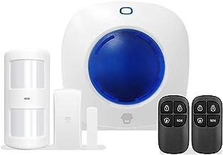 Venster of deursensor Home Alarmsysteem Kit met 1 deurvenstersensoren, 1 PIR-detector en 2 afstandsbedieningen Home inbrek...