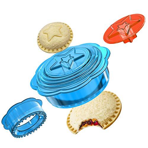 Sandwich Ausstecher, 6-In-1 Brot Ausstecher Set, Sandwich Ausstecher für müheloses Schneiden, für Kinder, Jungen und Mädchen Mittagessen als Bento Box Zubehör (Blau)
