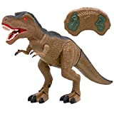 Best Choice Products 19in Kids Walking Remote Control T-Rex Tyrannosaurus Rex Dinosaur RC Toy Figurine w/ Light-Up Eyes, Roaring and Stomping Sounds