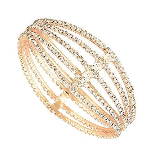 SataanReaper Presents Bangle Gold Plated American Diamond Studded Antique Style Celebrity Inspired Kada Bangle Jewellery For Girl and Women (2.8) #SR-5023
