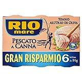 Rio Mare - Tonno all'Olio di Oliva Pescato a Canna, 6 Lattine da 80 g