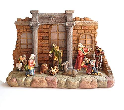 Figura de Escultura de la Familia de Jesús, Estatua de la Natividad, Grupo de Pesebre católico, Capilla de la Iglesia, decoración Religiosa