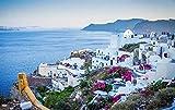 ZYDZYD Oia Santorini Grecia Puesta de Sol Turismo Egeo Vacaciones,40X50cm Kit de Pintura al óleo para Bricolaje Regalo para Adultos y niños