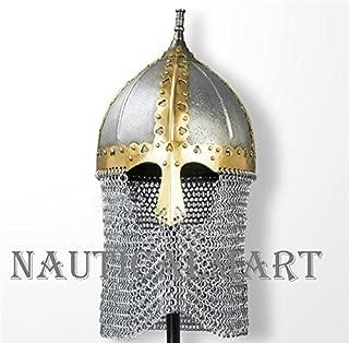 NAUTICALMART Medieval Functional Russian Boyar Helmet with Chainmail