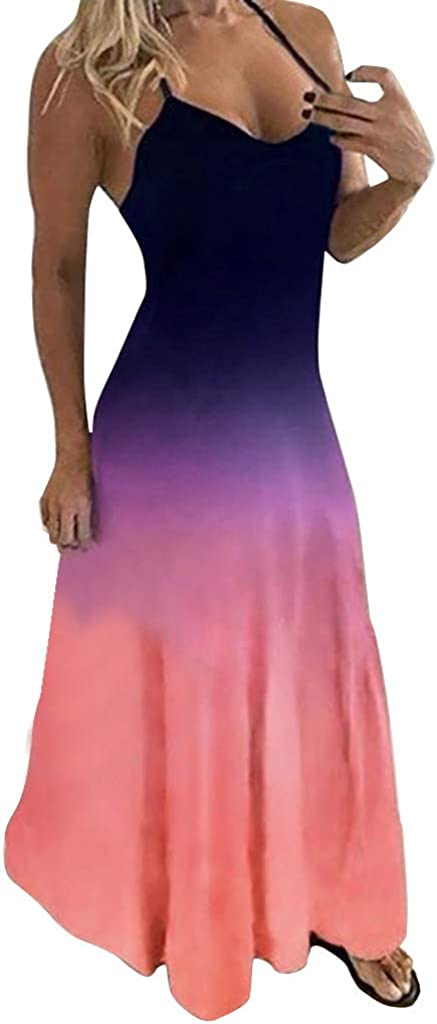 Gradient Tie-dye Dresses Max 85% Gifts OFF for Women Casual Womens KYLEON Summer
