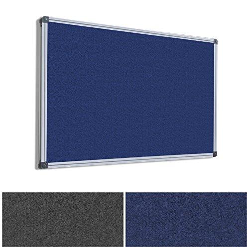 MOB Pinnwand - 7 Größen wählbar - Textil/Filz (blau), 120x90cm