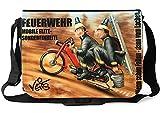 Veit'S lustige Schultertasche Schultasche College Tasche mit Motiv Feuerwehr Mobile Elite Spezialeinheit - TAB0120