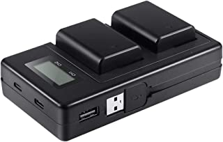 NP-FW50 Batteries Charger Set for Sony Camera, Lavuky LCD Battery Charger with 2 Rechargeable Batteries Compatible with Sony SLT-A/ILCE/DSC/Alpha Series