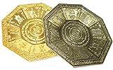 store 風水 香皿 香炉 香器 八角形皿 天然さざれ石 付き (青銅色)