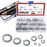 Hilitchi 300-Pcs 304 Stainless Steel External Tooth Star Lock Washers Assortment Kit - Inc...