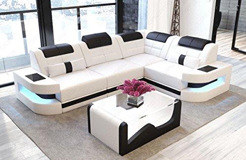 Sofa Dreams Designersofa Como in der L Form mit Leder