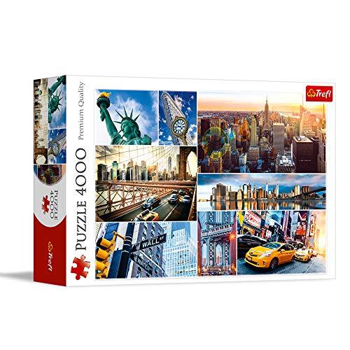 Trefl, Puzzle, New York, 4000 Teile, USA, Collage, Premium Quality, für Kinder ab 14 Jahren