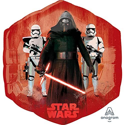 Globo Aluminio Rojo y Azul Star Wars...