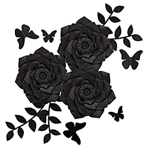 Fonder Mols Artificial Dahlia Paper Flower Decorations for Nursery Wall Decor, Baby Shower Backdrop