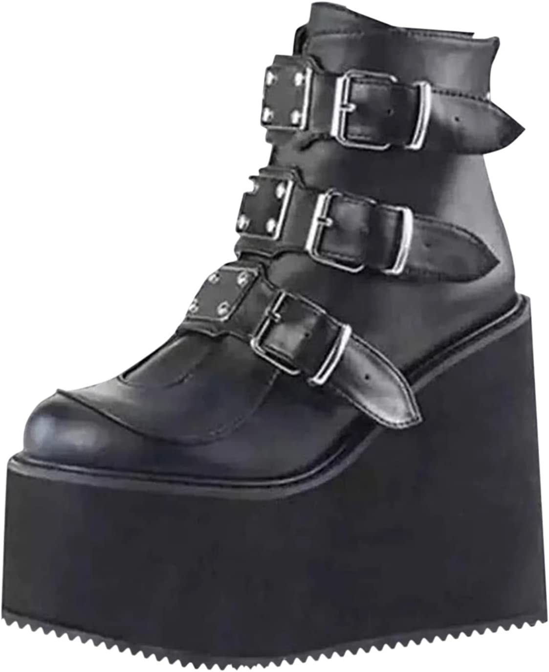 NOLDARES Easy-to-use Block Heel mart Platform Ankle Lace Fashion Booties Women's