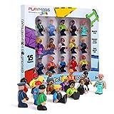 Playmags magnéticos Figuras-Comunidad Figuras Juego de 15 Piezas - Juega Personas fichas magnéticas - Stem Juguetes de Aprendizaje para niños - Expansión magnética Azulejos Pack-Compatible