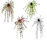 FISHN Dirty Hairy Jig Set - Flecos con Flecos, Flecos pegadizos - Protector contra malezas, Plantillas de Goma, tungsteno, Cebo Suave - Anzuelo Afilado, Peso: 2.5g/5g (Set 2,5g (4 Piezas))
