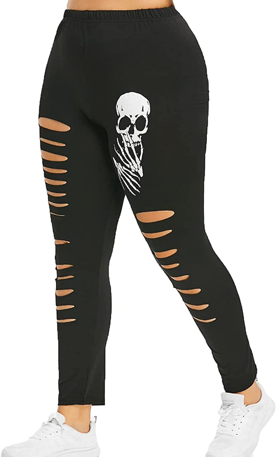 Ultra-Cheap Deals Women High Waist Skinny Hollow gift Print Out Stretch Jeans Skeleton