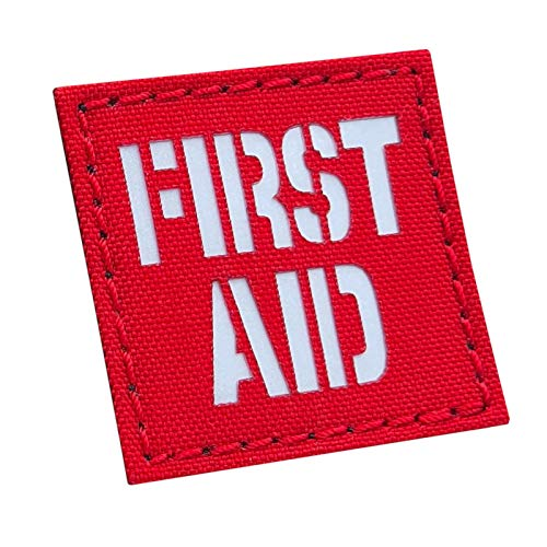 Reflective 2x2 First Aid Kit IFAK MED Medic Medical Tactical Touch Fastener Patch