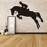 Pferd Jumpine Sport Wandaufkleber Reiter Wandbild Wandbild