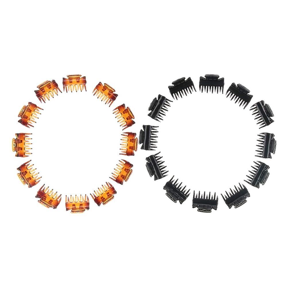 ライド輝度ダンスBaoblaze ミニ 24個 ヘアクリップ バレッタ 女の子 樹脂 ヘアアクセサリー ブラック+ブラウン