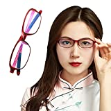 HIYU Gafas de Lectura Anti-Azules, Gafas de enfermería, Lentes de Perspectiva de Alta...