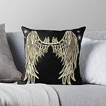 Animal Bird Vector Tattoo Black Angel Wing Neon - Highlights - - Pillow Case Cotton Polyester-Home Decor I Customize