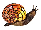 Dale Tiffany TA15173 Snail Tiffany Accent Table Lamp, Antique Bronze