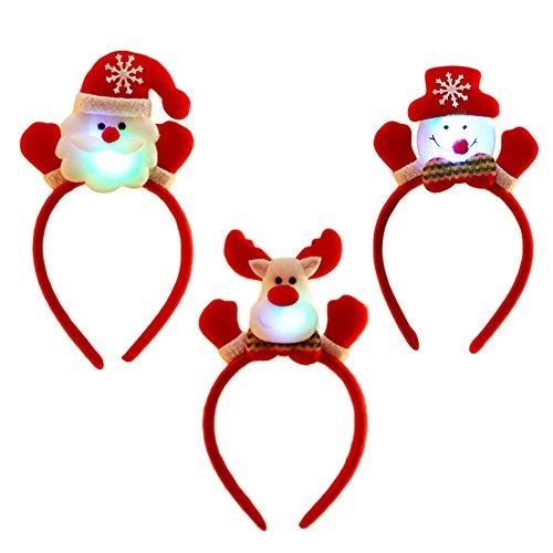 Beetest 6pcs Unisex Linda Navidad Santa Diadema Bandas de Pelo con decoración de Navidad para Hombres Mujeres niños