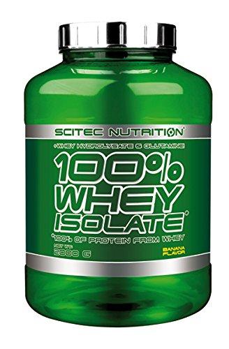 Scitec Nutrition 100% Whey Isolate, Suplimento Nutricional de Proteinas con Sabor de Banana, 2kg