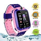 themoemoe Kids Smartwatch, Kids Smartwatch with GPS Tracker Waterproof Phone Smart Watch 1.44 Games SOS Alarm Clock Camera (Pink)