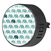 2pcsアロマセラピーディフューザーカーエッセンシャルオイルディフューザーベントクリップシームレスエレファントパターン